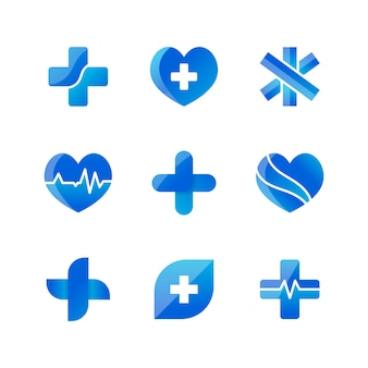 Set of medical icons 3D designs