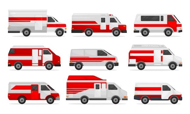 Набор медицинских микроавтобусов и фургонов