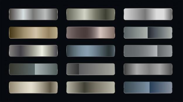 Набор металлических градиентных наклеек