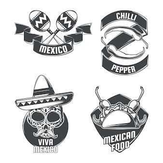 メキシコのエンブレムのセット