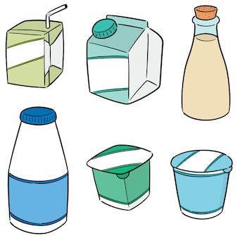 乳製品のセット