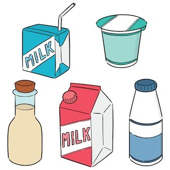乳製品のセット Premiumベクター