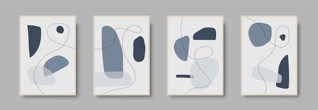 Набор минимальных абстрактных геометрических фоновых дизайнов