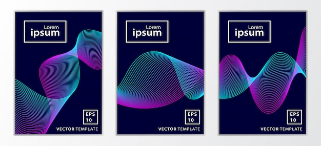 Набор минимальных бизнес дизайн обложки брошюры