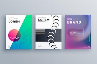 Set of minimal business brochure templates