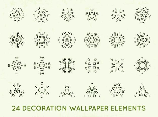 Набор минималистичных декоративных старинных форм