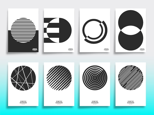 Набор минимальных геометрических шаблонов обложки