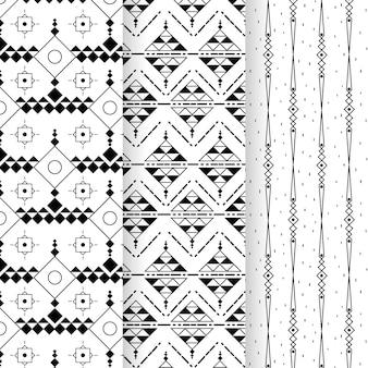 最小限の幾何学模様のセット