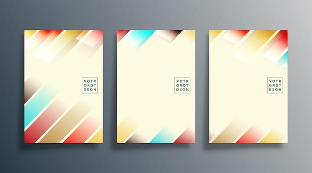 最小限の幾何学的なポスターデザインのセット。