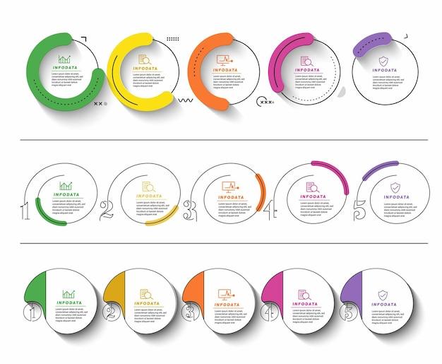 최소한의 infographic 템플릿 디자인 프로모션 배너, 스크롤, 스티커, 배지, 가격표, 포스터 제공.