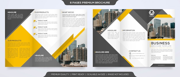 Набор минималистских шаблонов брошюр премиум