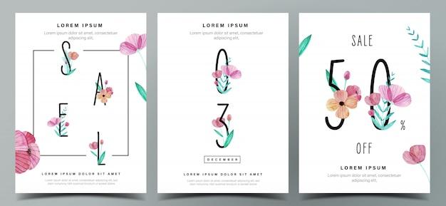 Набор минималистский шаблон плаката