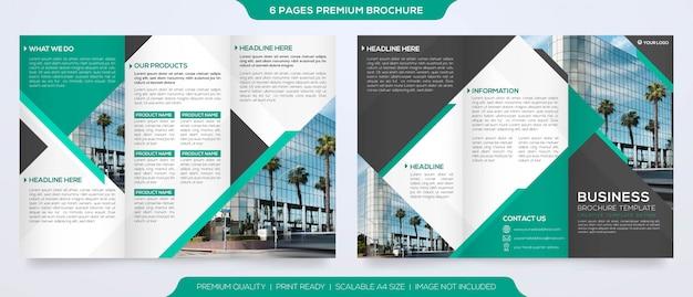 Набор шаблонов брошюры в минималистском стиле