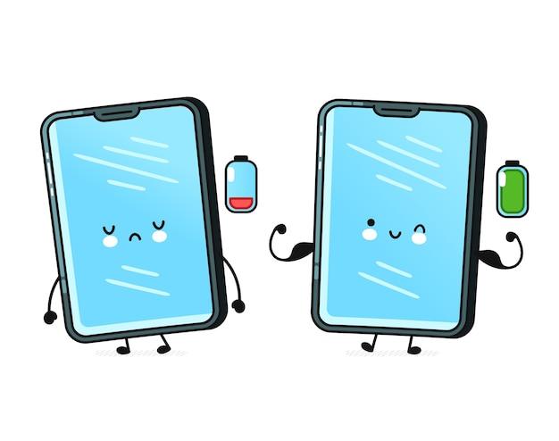 白で隔離の携帯電話の文字のセット