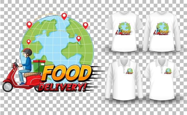 配信をテーマにしたモックアップシャツのセット