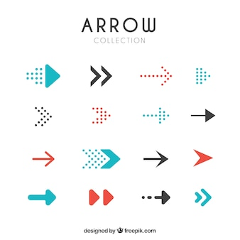Set of modern arrows