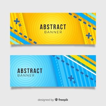 Набор современных баннеров с абстрактным дизайном