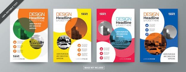 Набор современной бизнес брошюры листовки с редактируемым текстом
