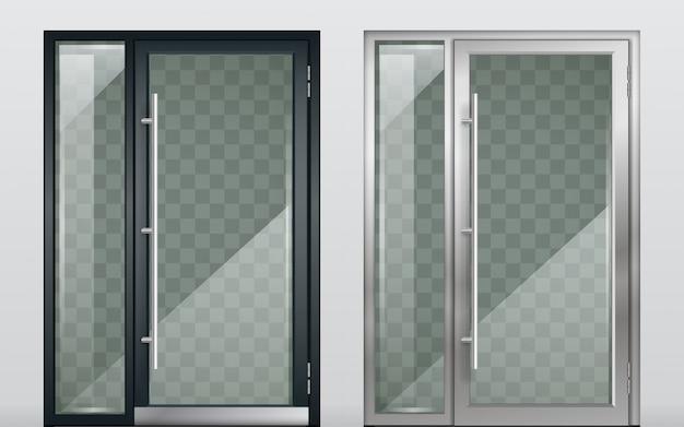 Набор современных входных дверей черный белый