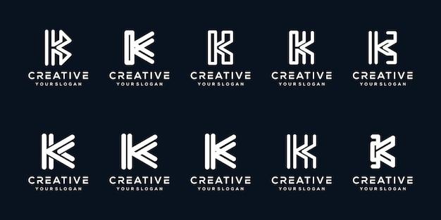 Установить современный дизайн логотипа буква k