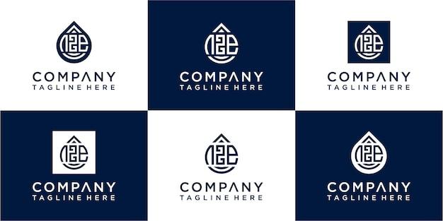 Набор современных букв sos moogram дизайн логотипа