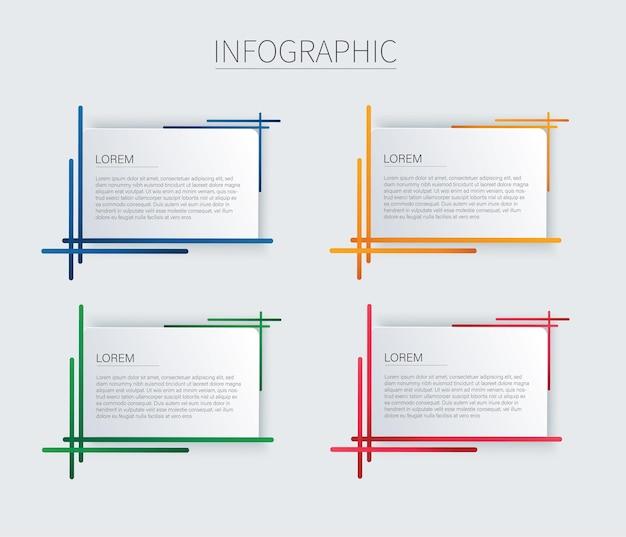 현대 광장 격리 된 색상 프레임 템플릿 집합