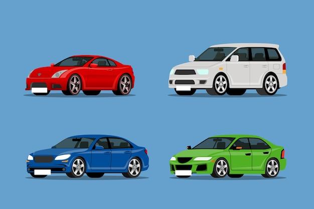 현대 & suv 자동차 컬렉션 세트.