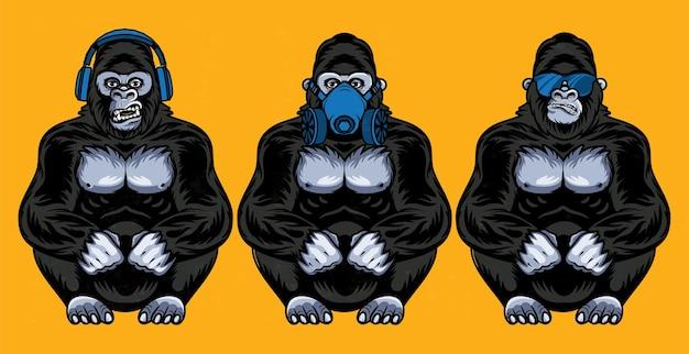 원숭이 세트