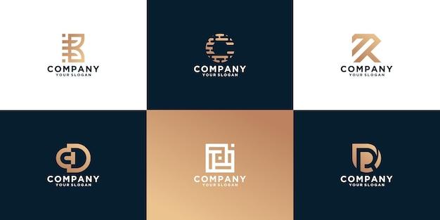 모노그램 추상적 인 로고 디자인 서식 파일의 설정