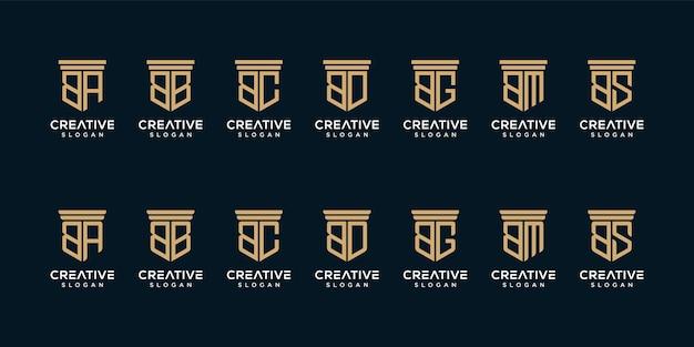 Набор дизайна логотипа монограммы