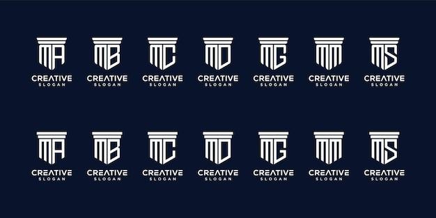 Набор дизайна логотипа монограммы Premium векторы