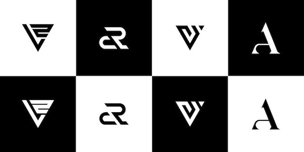 모노그램 로고 디자인 세트