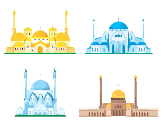 Набор иллюстраций мечети