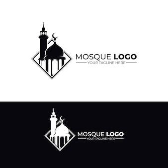モスクのロゴデザインのインスピレーションのセット