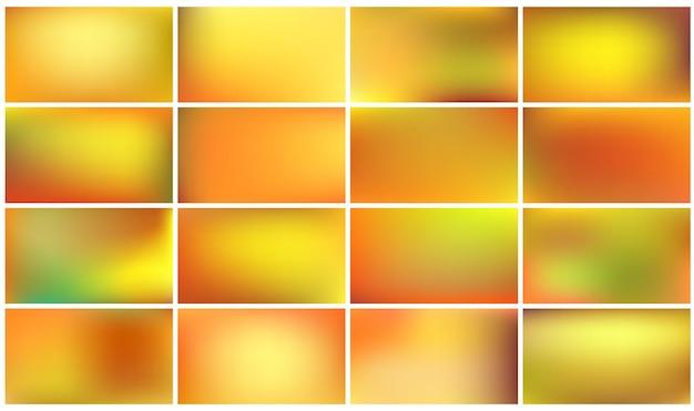 Набор разноцветных осенних фонов