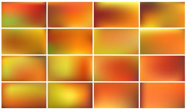 여러 가지 빛깔의 가을 배경 세트입니다.