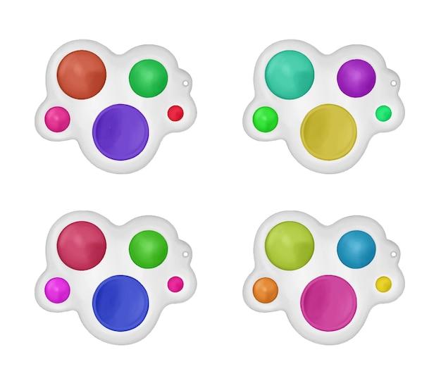 色とりどりのアンチストレスおもちゃのセットシンプルなディンプルポップそれ