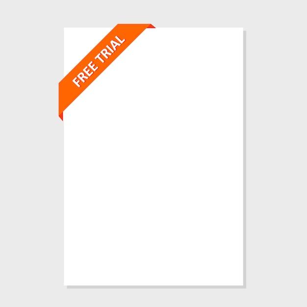 ウェブサイトのデザインのための色とりどりのボタンのセットです。無料トライアルデー
