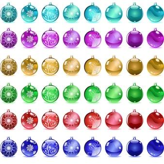 Набор разноцветных новогодних шаров