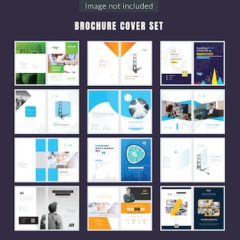 Set of Multiple Brochure Cover Page Design
