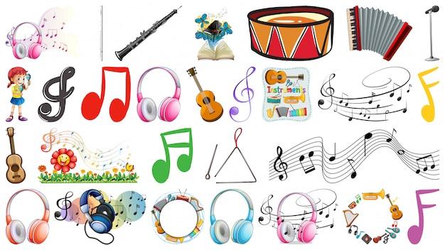 Набор музыкальных инструментов