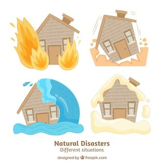 自然災害のセット