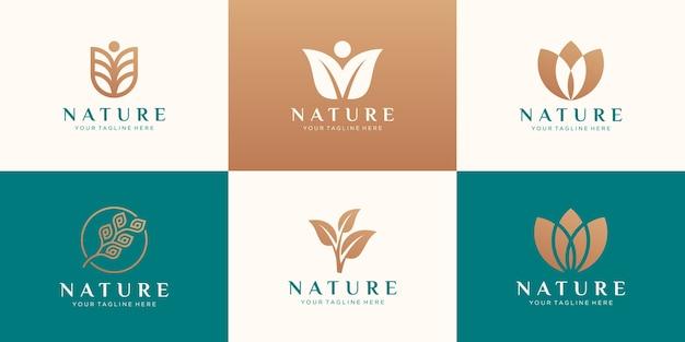 자연 로고 디자인의 집합입니다.