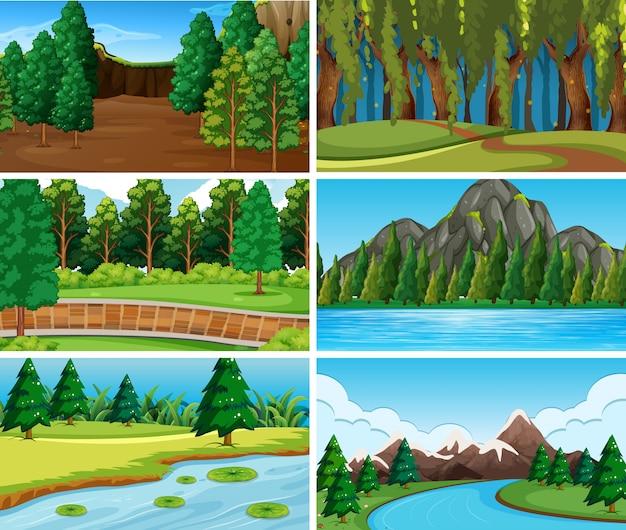 Набор фонов природы