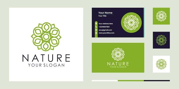 Набор природа цветок логотип