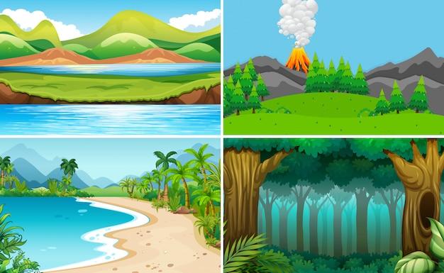 Набор природных ландшафтов