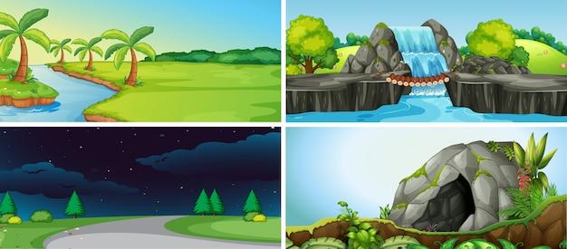 자연 풍경 세트
