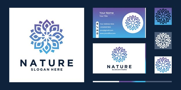 Набор природы орнамент дизайн цветок логотип