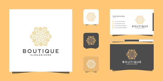Набор морских и морской якорь креативный дизайн логотипа