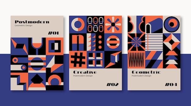 새로운 모더니즘 미학 비즈니스 커버 세트